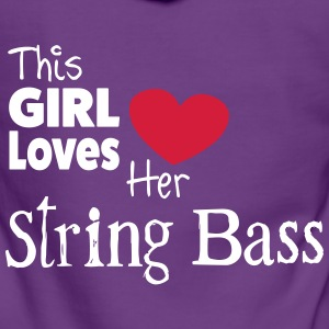 This Girl Loves String Bass Pullover & Hoodies - Frauen Premium Kapuzenjacke