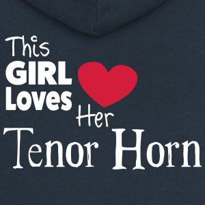 This Girl Loves Her Tenor Horn Pullover & Hoodies - Frauen Premium Kapuzenjacke