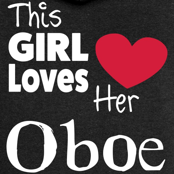 This Girl Loves Her Oboe Gensere - Premium hettejakke for kvinner