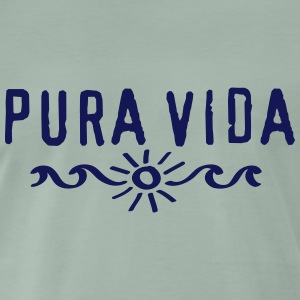 Pura Vida, Costa Rica, Surfing, Beach, Holidays T-Shirts - Men's Premium T-Shirt