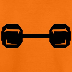 Dumbbell weight lifting bodybuilding 2 Shirts - Kids' Premium T-Shirt