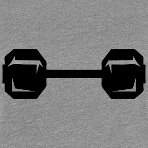 Dumbbell weight lifting bodybuilding 2 T-Shirts - Women's Premium T-Shirt