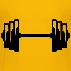 Dumbbell weight lifting bodybuilding 12 Shirts - Teenage Premium T-Shirt