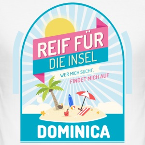 Dominica Inselurlaub T-Shirts - Männer Slim Fit T-Shirt