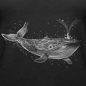 white whale in the ocean Tops - Women's Premium Tank Top
