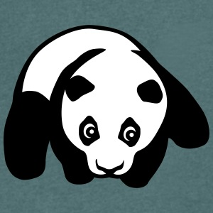 Panda tummy T-Shirts - Men's V-Neck T-Shirt