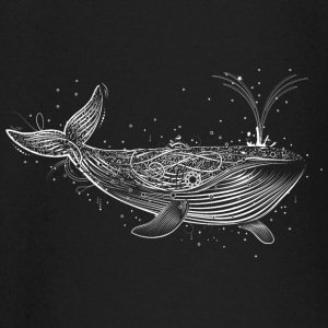 white whale in the ocean Baby Long Sleeve Shirts - Baby Long Sleeve T-Shirt