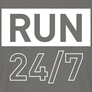 RUN 24/7 running gym t-shirt - Men's T-Shirt