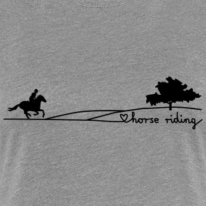 love horse riding T-Shirts - Frauen Premium T-Shirt
