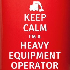Keep Calm I'm a Heavy Equipment Operator Krus & tilbehør - Ensfarvet krus