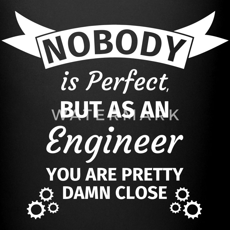 Nobody is Perfect But as An Engineer You are Prett Mokken & toebehoor - Mok uni