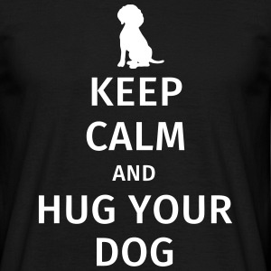Keep Calm and Hug Your Dog T-shirts - Mannen T-shirt