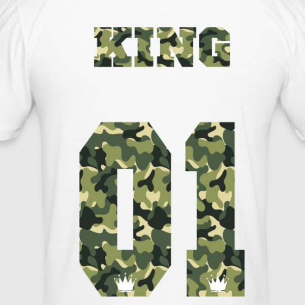 King Camouflage - Männer Slim Fit T-Shirt