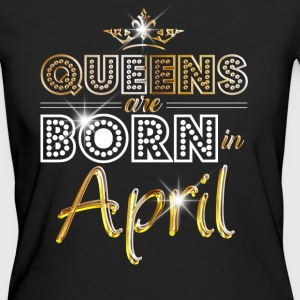 April - Queen - Birthday - 2 T-shirts - Vrouwen Bio-T-shirt