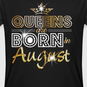August - Queen - Birthday - 2 T-shirts - Mannen Bio-T-shirt