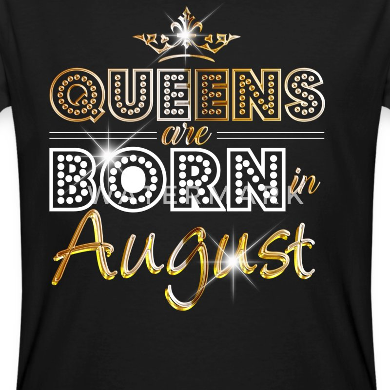 August - Queen - Birthday - 2 T-skjorter - Økologisk T-skjorte for menn