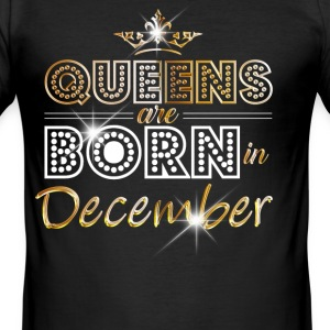 December - Queen - Birthday - 2 T-Shirts - Men's Slim Fit T-Shirt