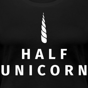 Half Unicorn T-Shirts - Frauen Premium T-Shirt