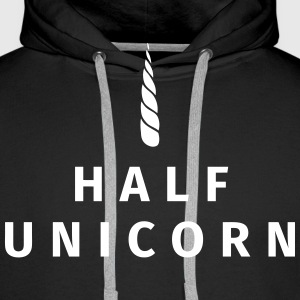 Half Unicorn Hoodies & Sweatshirts - Men's Premium Hoodie