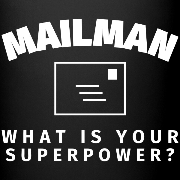 Mailman - What is Your Supower? Mugs & Drinkware - Full Colour Mug