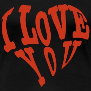 I love You Liebe T-Shirts - Frauen Premium T-Shirt