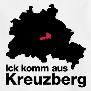 Weiß kreuzberg Kinder T-Shirts - Teenager T-Shirt