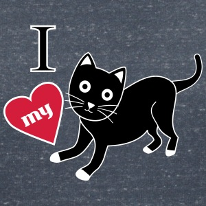 I love my cat T-Shirts - Women's V-Neck T-Shirt