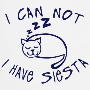 i_can_not_have_siesta Cat sleep quote  Aprons - Cooking Apron