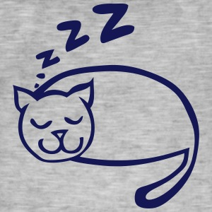 chat dort dessin zzz 1 Tee shirts - T-shirt vintage Homme