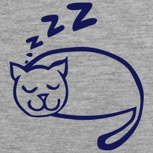 Cat sleeping drawing zzz Sports wear - Men's Premium Tank Top