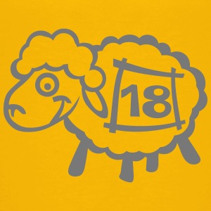 Sheep number 18 account jump drawing Shirts - Kids' Premium T-Shirt