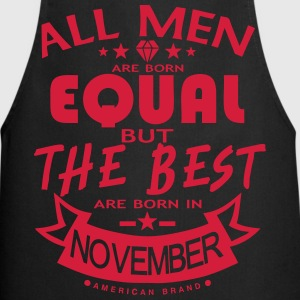 november men equal best born month logo Delantales - Delantal de cocina