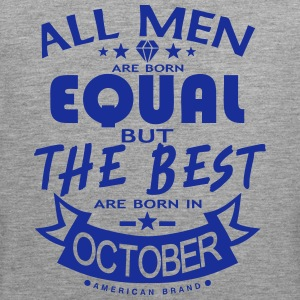 october men equal best born month logo Sports wear - Men's Premium Tank Top