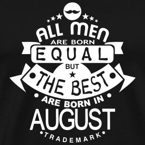 august men equal best born month logo T-Shirts - Men's Premium T-Shirt