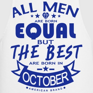 october men equal best born month logo Delantales - Delantal de cocina