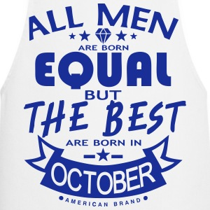 october men equal best born month logo  Aprons - Cooking Apron