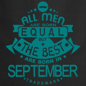 september men equal best born month logo Delantales - Delantal de cocina