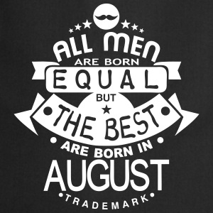 august men equal best born month logo Delantales - Delantal de cocina