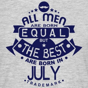 july men equal best born month logo Tee shirts - T-shirt Homme