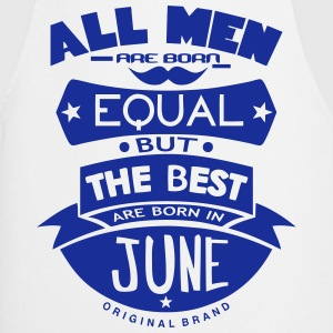 june men equal best born month logo Delantales - Delantal de cocina