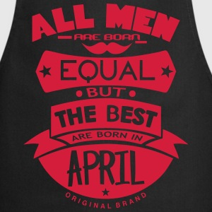 april men equal best born month logo Delantales - Delantal de cocina