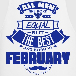 february men equal best born month logo  Aprons - Cooking Apron