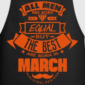 march men equal best born month logo  Aprons - Cooking Apron