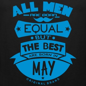 may men equal best born month logo Ropa deportiva - Tank top premium hombre