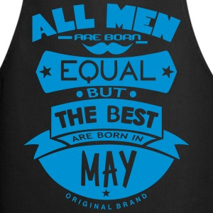 may men equal best born month logo  Aprons - Cooking Apron