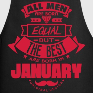 january men equal best born month logo Delantales - Delantal de cocina