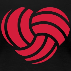 VolleyballFREAK Herz MP T-Shirts - Frauen Premium T-Shirt