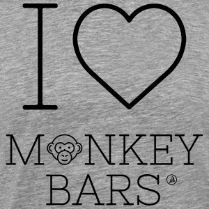 I love Monkey Bars - T-shirt Premium Homme