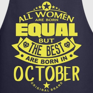 october women equal best born month logo  Aprons - Cooking Apron