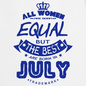 july women equal best born month logo  Aprons - Cooking Apron